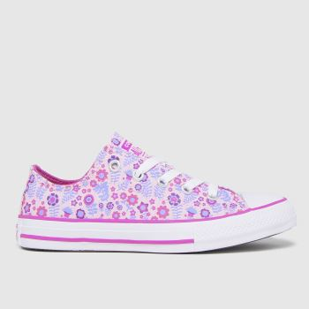 Converse Pale Pink Lo Ditsy Floral Girls Junior