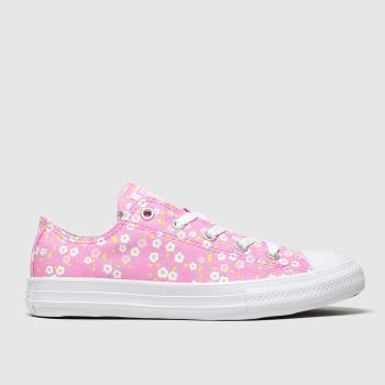 Converse Pink Lo Floral Girls Junior