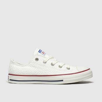 Converse White Lo Miss Chuck Girls Junior