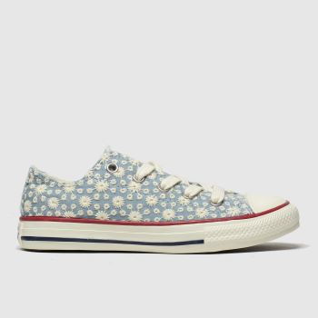 Converse White & Blue Lo Miss Chuck Girls Junior