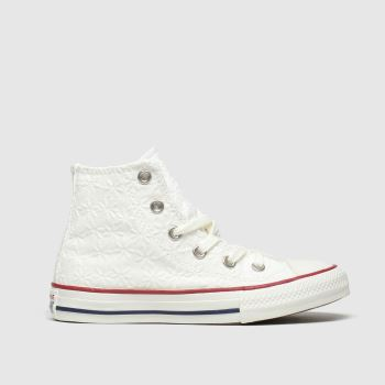 Converse White Hi Miss Chuck Girls Junior