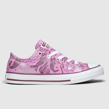 Converse Pink Lo Mermaid c2namevalue::Girls Junior