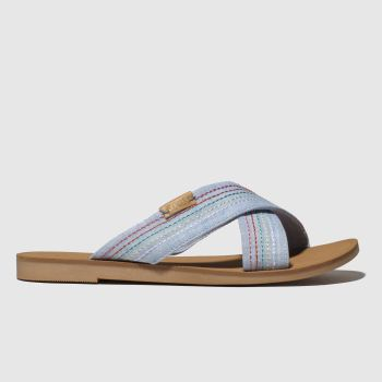 Toms Pale Blue Viv Girls Junior
