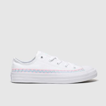 Converse White All Star Lo Braclet Girls Junior