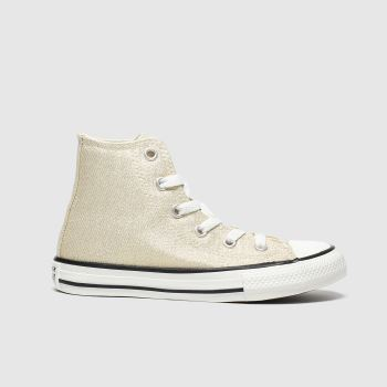Converse Gold All Star Hi Summer Sparkle Girls Junior