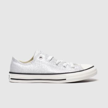 Converse Silver All Star Lo Summer Sparkle Girls Junior#