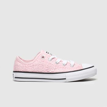 Converse Pink All Star Lo Daisy Crochet Girls Junior