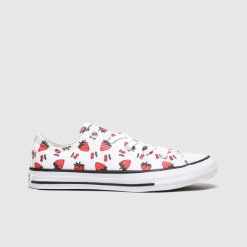 Converse White & Red All Star Lo Spring Fruits Girls Junior