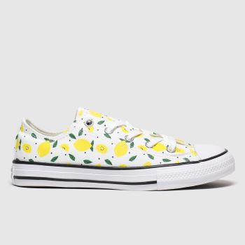 Converse White & Yellow All Star Lo Spring Fruits Girls Junior#