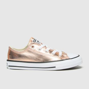 Converse Gold Lo Metallic Girls Junior