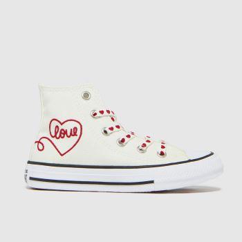Converse White & Black Hi Love Thread Girls Junior