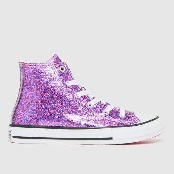 Converse Pink Hi Glitter Girls Junior