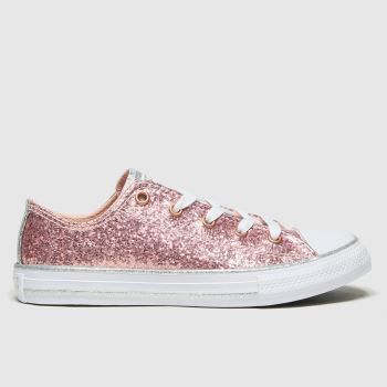 Converse Pink Lo Glitter Girls Junior