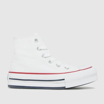 Converse White Eva Lift Hi Girls Junior