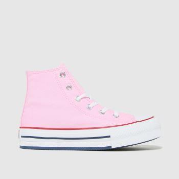 Converse Pink Eva Lift Hi Girls Junior