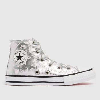 Converse Silver Hi Stars Girls Junior