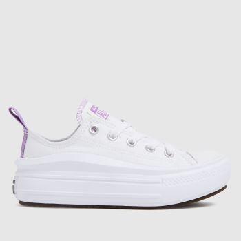 Converse White & Purple Move Colour Pop Girls Junior