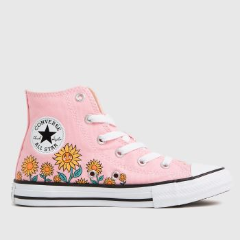 Converse Pink Hi Sunflower Girls Junior
