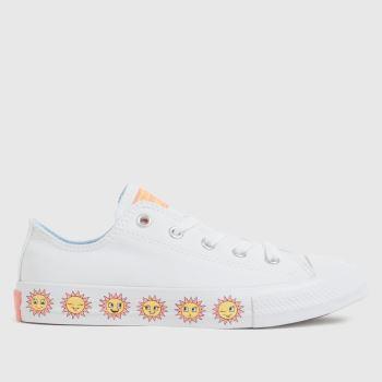 Converse White Lo Sunflower Girls Junior