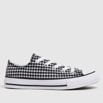 Converse Black & White Lo Gingham Girls Junior