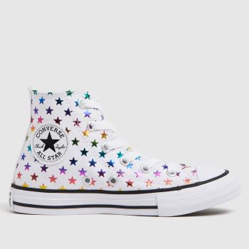 Converse White Hi Foil Star Girls Junior