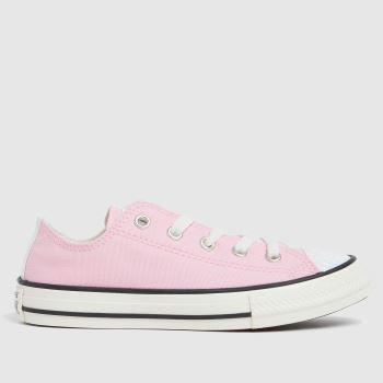 Converse Pale Pink Lo Uv Glitter Girls Junior