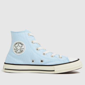 Converse Pale Blue Hi Uv Glitter Girls Junior