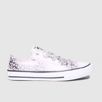 Converse Silver All Star Lo Shes A Star Girls Junior#