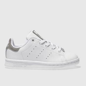 Adidas White & grey Stan Smith Girls Junior