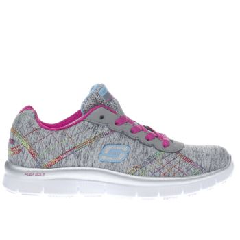 SKECHERS GREY SKECH APPEAL ELECTRIC GIRLS JUNIOR TRAINERS
