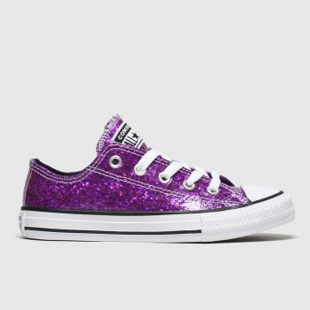 Converse Purple All Star Lo Glitter Girls Junior