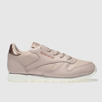 ce3400d857465a Reebok Pale Pink Classic Leather Estl Girls Junior