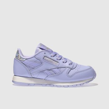 ac2b16269b2f Girls lilac reebok classic leather pastel trainers