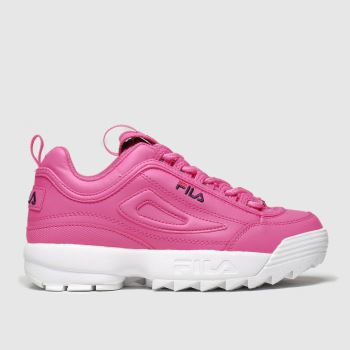 Fila Pink Disruptor Ii Neon Girls Junior#