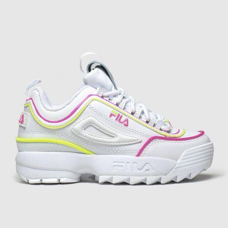 Kinder fila Weiß pink Disruptor Ii Contrast Sneaker