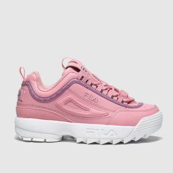 Fila Pink Disruptor Ii Repeat Girls Junior#