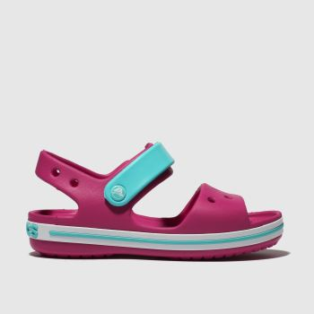 Crocs Pink Crocband Sandal Girls Junior