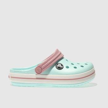 Crocs Pale Blue Crocband Clog Girls Junior