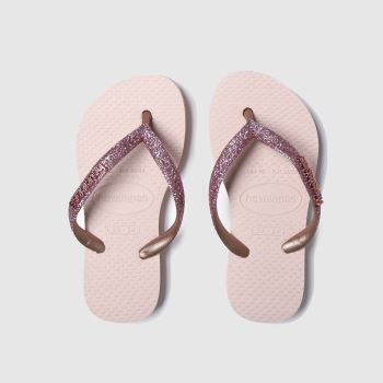 Havaianas Pink Slim Shiny c2namevalue::Girls Junior