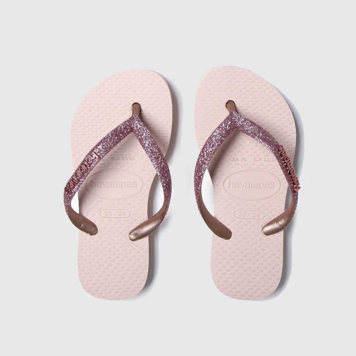 Havaianas Pink Slim Shiny Trainers Junior