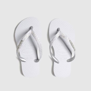 Havaianas Silver Slim Shiny c2namevalue::Girls Junior