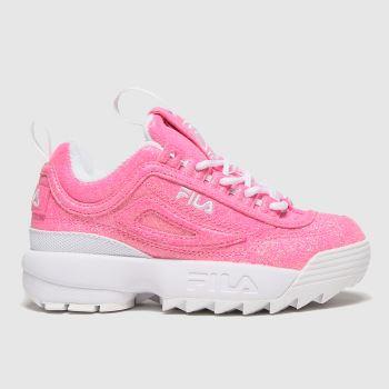Fila Pink Disruptor Ii Glimmer Girls Junior