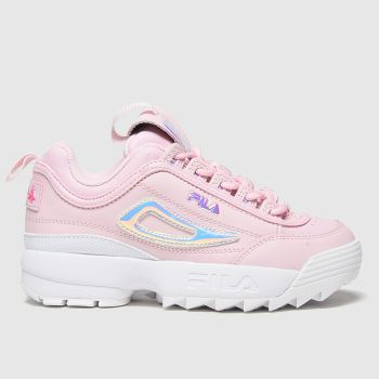 Fila Pale Pink Disruptor Ii Girls Junior