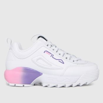 Fila White & Purple Disruptor 2a Girls Junior
