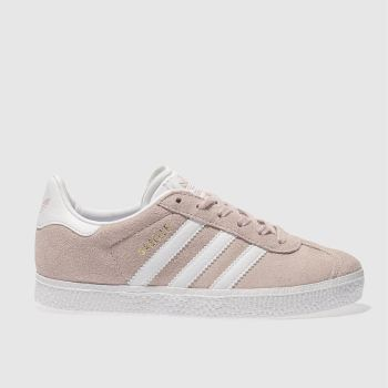 wholesale dealer ac6f6 ddcdb Adidas Pale Pink Gazelle Girls Junior