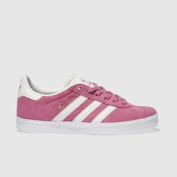 ADIDAS PINK GAZELLE TRAINERS JUNIOR