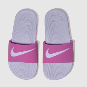 5d0c776c75baed Girls pink nike kawa slide trainers