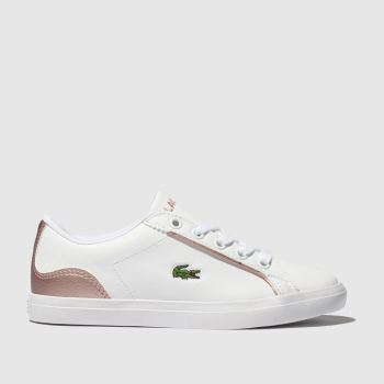 Lacoste White & Pink Lerond Girls Junior