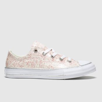 Converse Pale Pink Lo Glitter Girls Junior