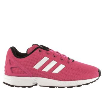 be93b0a0279a4 ADIDAS PINK ZX FLUX GIRLS JUNIOR TRAINERS